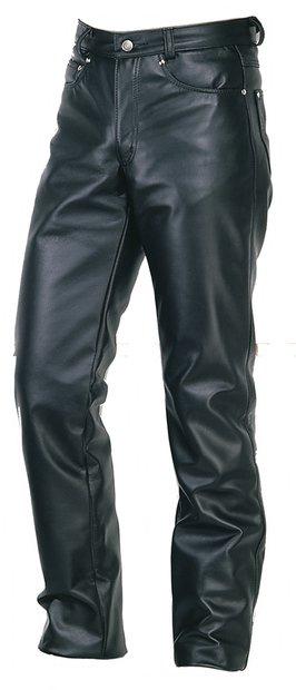 600 - Straight Leg Steerhide Leather Jeans