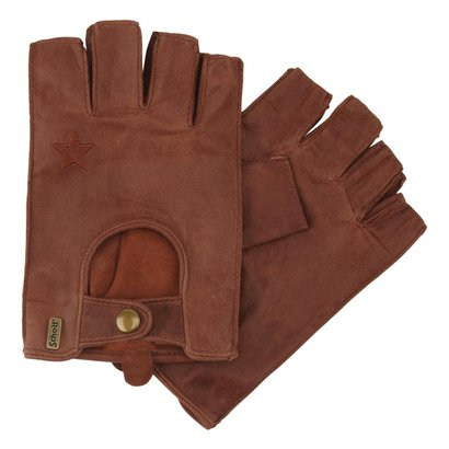 A015-B - Fingerless Leather Gloves