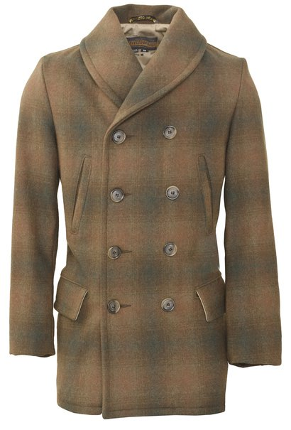 P758 - Plaid Mackinaw Coat