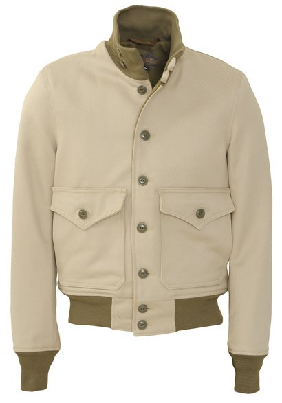 P874 - Cavalry Twill A1 Flight Jacket (Khaki)