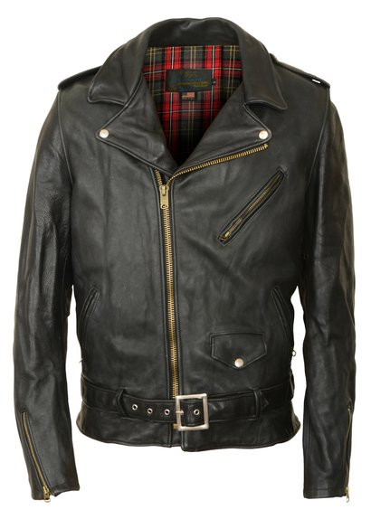 PER2 - Men's Vintaged Cowhide Perfecto Asymmetrical Black Motorcycle Leather Jacket