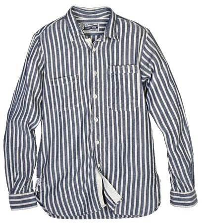 SH1324 - Vertical Dobby Stripe Fine Weave Cotton Shirt (Blue)
