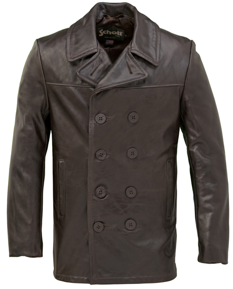 Cowhide Fitted Peacoat 640f