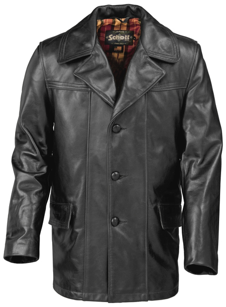 Lightweight Cowhide Fitted Retro Carcoat 645