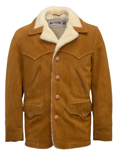 Split Cowhide Leather Rancher Coat - 359