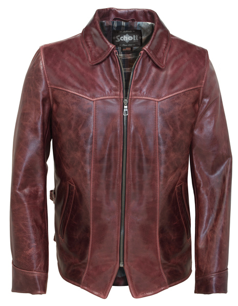 Cowhide Fitted Retro Jacket 662