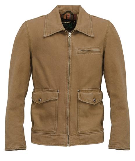 27 Stone Washed Cotton Canvas Work Jacket 81296