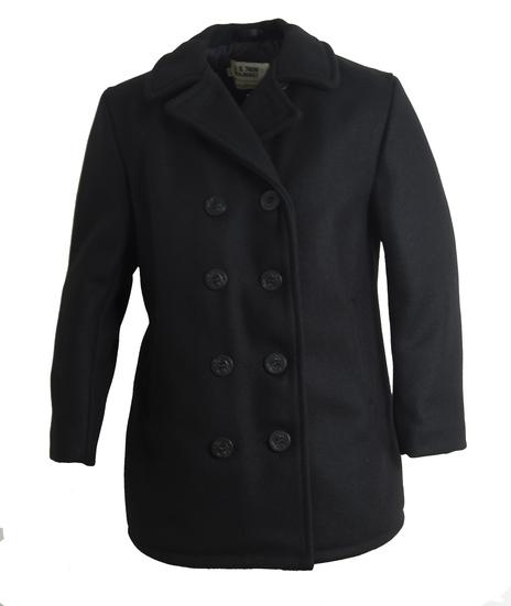 Classic 32 Oz. Melton Wool Pea Coat For Women 750w