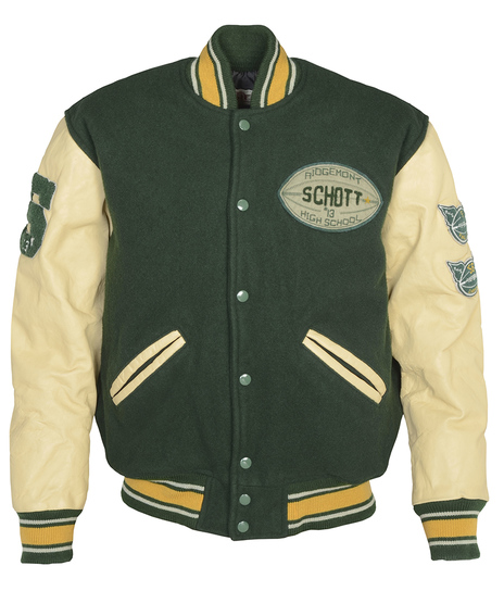 27 Vintaged Wool Blend Varsity Jacket 71270