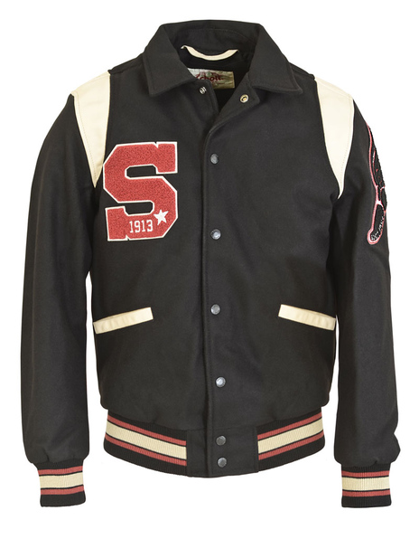 27 Wool Blend Retro Varsity Jacket 71282