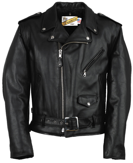 Classic Perfecto Leather Motorcycle Jacket 118