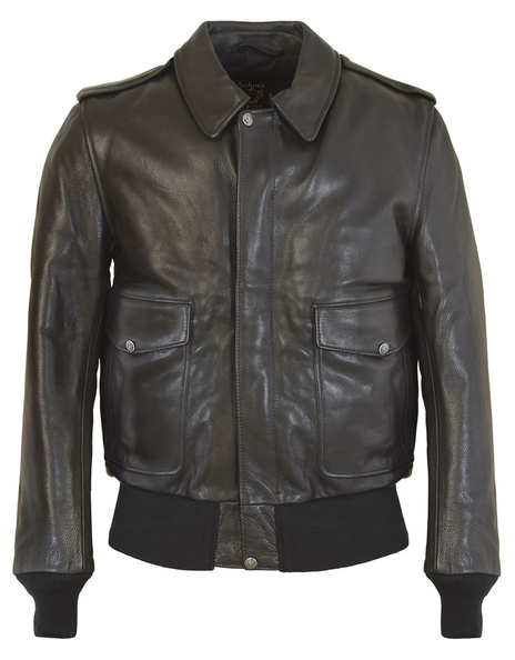 Mens A-2 Leather Flight Jacket In Soft Touch Naked Pebbled Cowhide Flt5