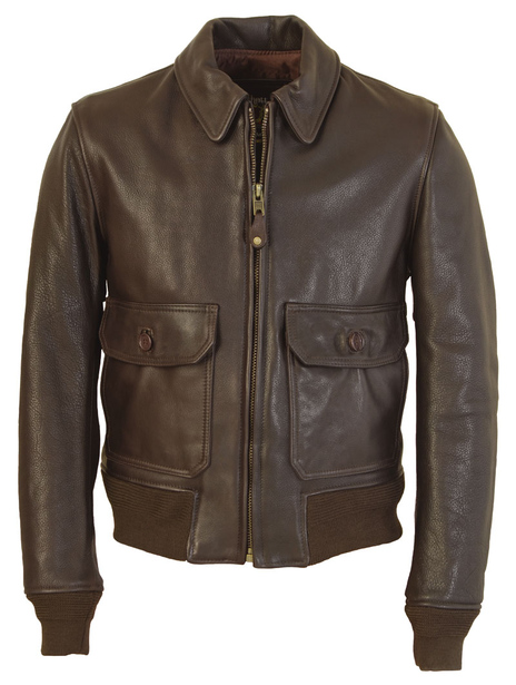 G–1 Flight Jacket In Naked Pebbled Cowhide Flt7