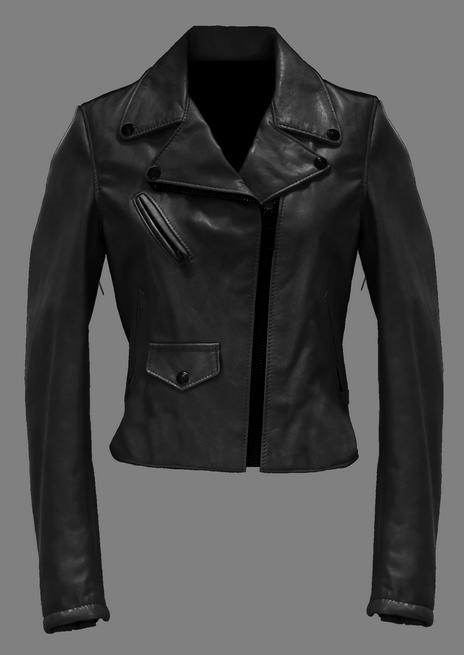 Woman's Cropped Lambskin Perfecto Jacket Sperc
