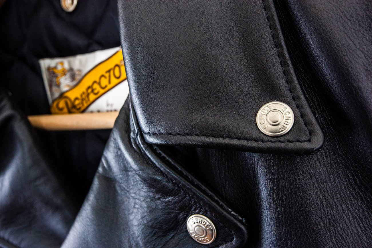 Classic Schott 618 Perfecto Motorcycle Leather Jacket