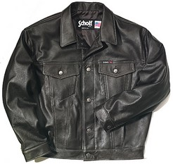 Jean Jacket Style Leather Jacket