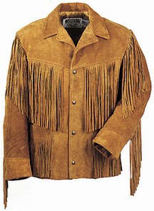 Western Fringe Leather Jacket - Black