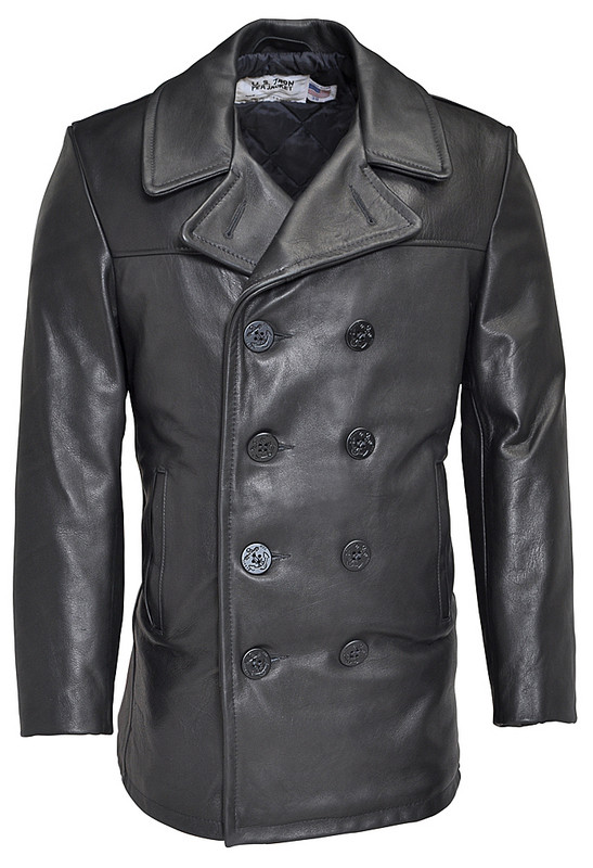 Break apart from the rest of the crowd with the ultimate in Pea Coats! Perfect for casual or dress, this men's leather pea coat style features the classic look of the Schott Naval Style Pea Coat in genuine Naked Cowhide Leather.5/5(10).