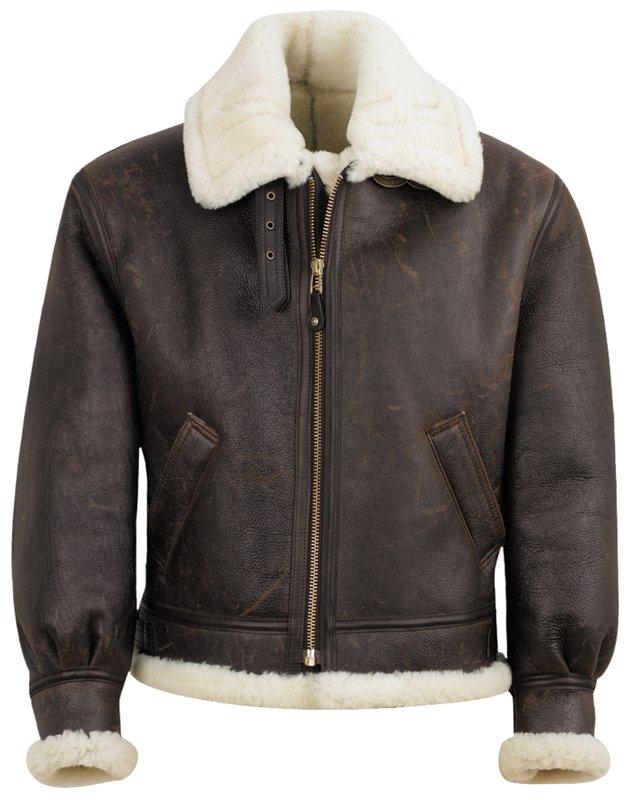 Men's Vintage Jackets & Coats Classic B-3 Sheepskin Leather Bomber Jacket $1,325.00 AT vintagedancer.com