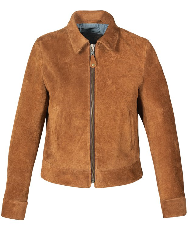 Vintage Coats & Jackets | Retro Coats and Jackets Womens Cow Suede Trucker Jacket $680.00 AT vintagedancer.com