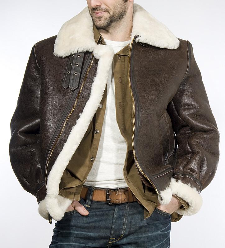 B-3 leather bomber jacket