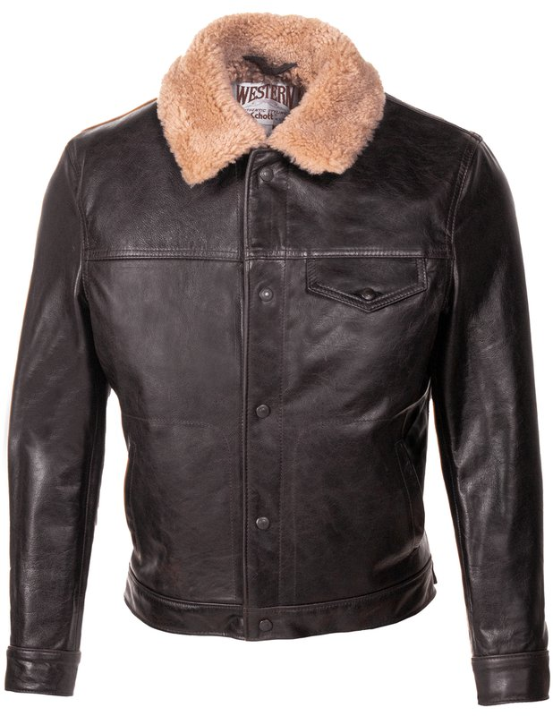 50s Men's Jackets | Greaser Jackets, Leather, Bomber, Gabardine MENS WAXY COWHIDE LEATHER TRUCKER JACKET $850.00 AT vintagedancer.com