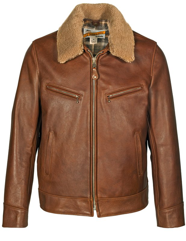 Men's Vintage Jackets & Coats Antique Cowhide Rancher Jacket with Sheepskin Collar $965.00 AT vintagedancer.com