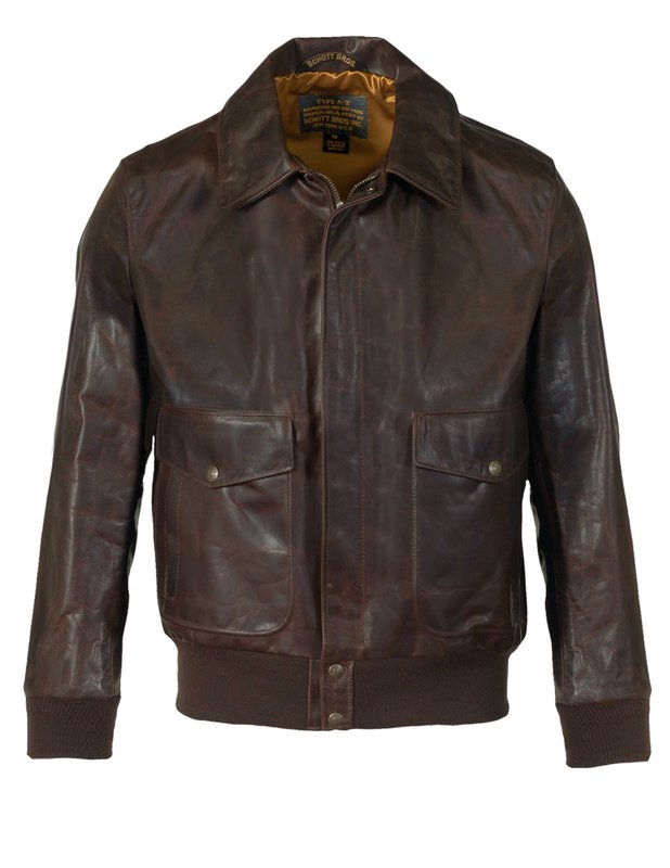 Men's Vintage Jackets & Coats Mens Light Weight Oiled Cowhide Flight Jacket $815.00 AT vintagedancer.com