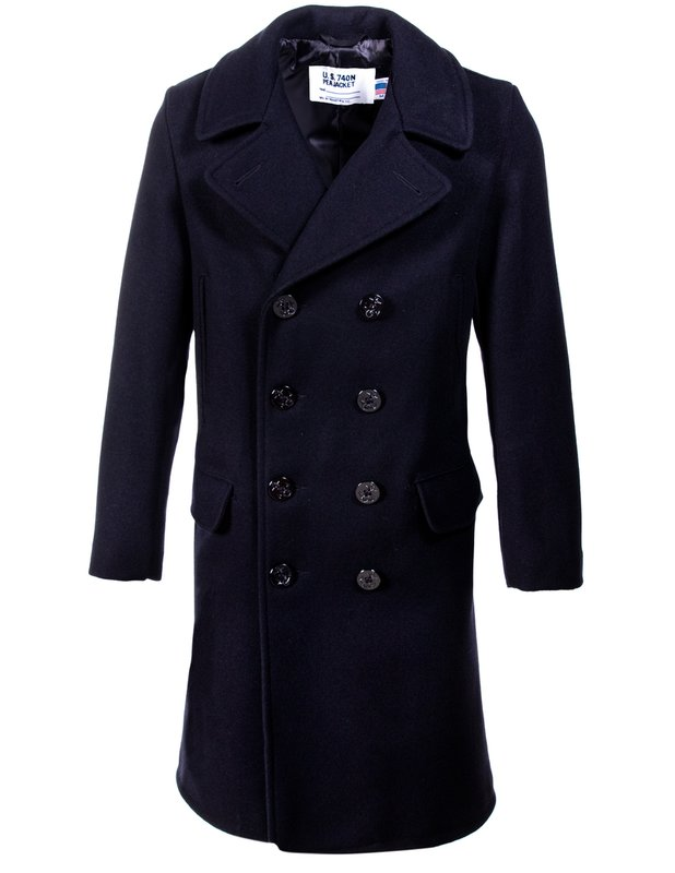 Men's Vintage Jackets & Coats Mens Wool Knee Length Peacoat $480.00 AT vintagedancer.com