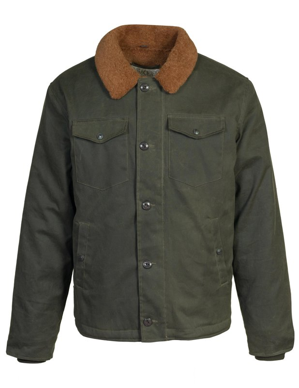 Men's Vintage Jackets & Coats Waxed Cotton Deck Jacket $238.00 AT vintagedancer.com