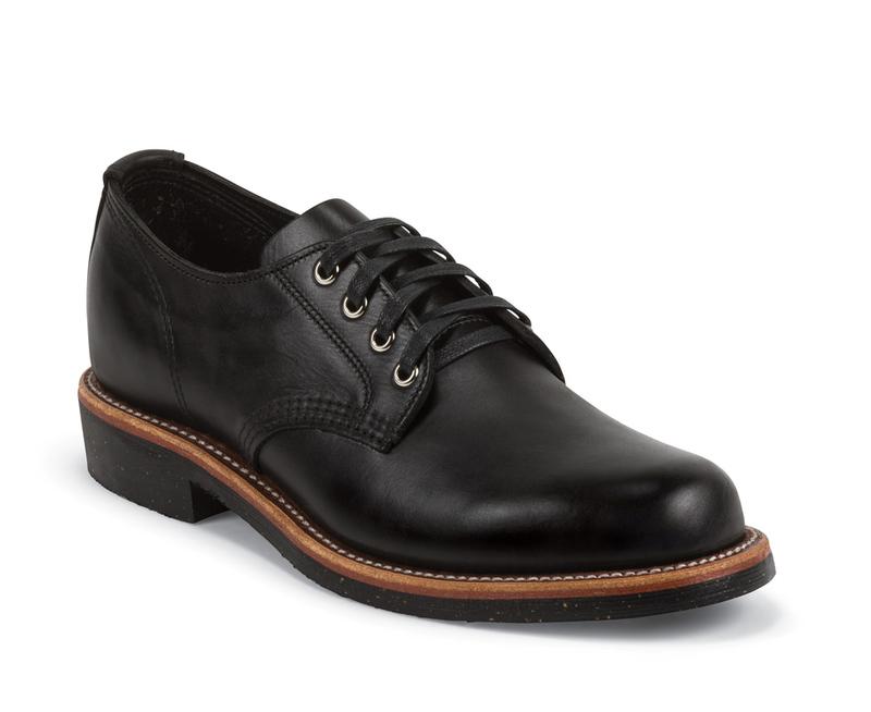 Schott Chippewa  Black Service Oxford Shoe