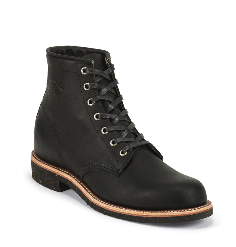 "1940s Men's Shoes & Boots | Gangster, Spectator, Black and White Shoes Chippewa 6"" Service Boot $279.95 AT vintagedancer.com"