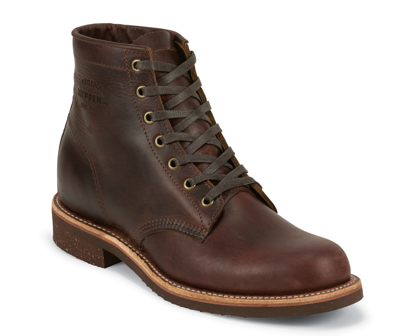1940s Men's Shoes & Boots | Gangster, Spectator, Black and White Shoes Chippewa 6 Cordovan Service Boot $279.95 AT vintagedancer.com