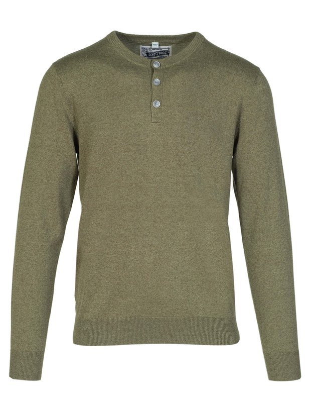 Mens Vintage Shirts – Casual, Dress, T-shirts, Polos Cotton Henley Sweater $60.00 AT vintagedancer.com