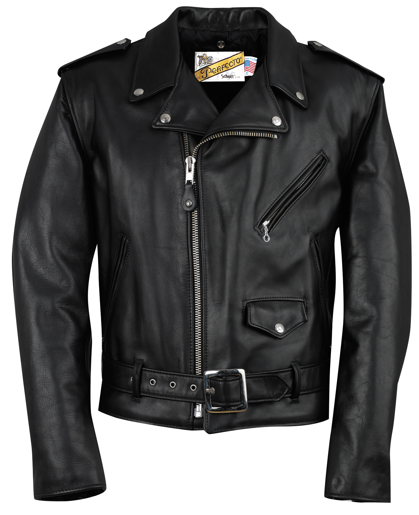 Schott N.Y.C. 118 Classic Perfecto® Leather Motorcycle Jacket