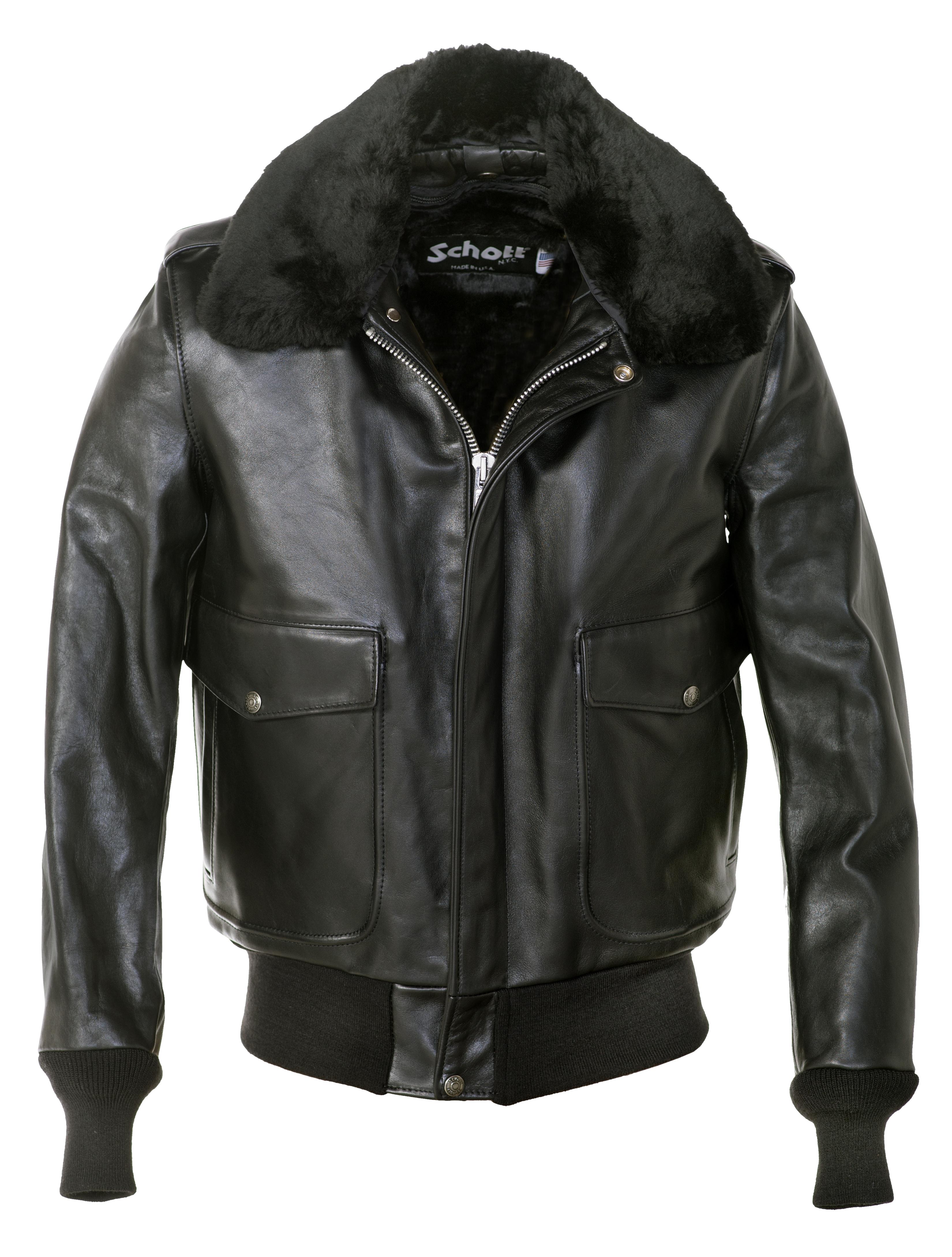 Schott N.Y.C. 184SM A-2 Naked Cowhide Leather Flight Jacket