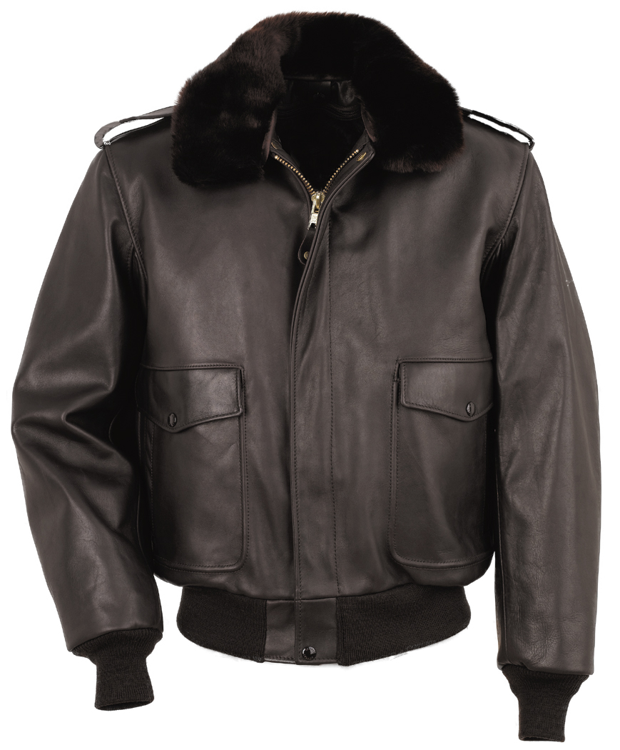 Schott N.Y.C. 184SM A-2 Naked Cowhide Leather Flight Jacket
