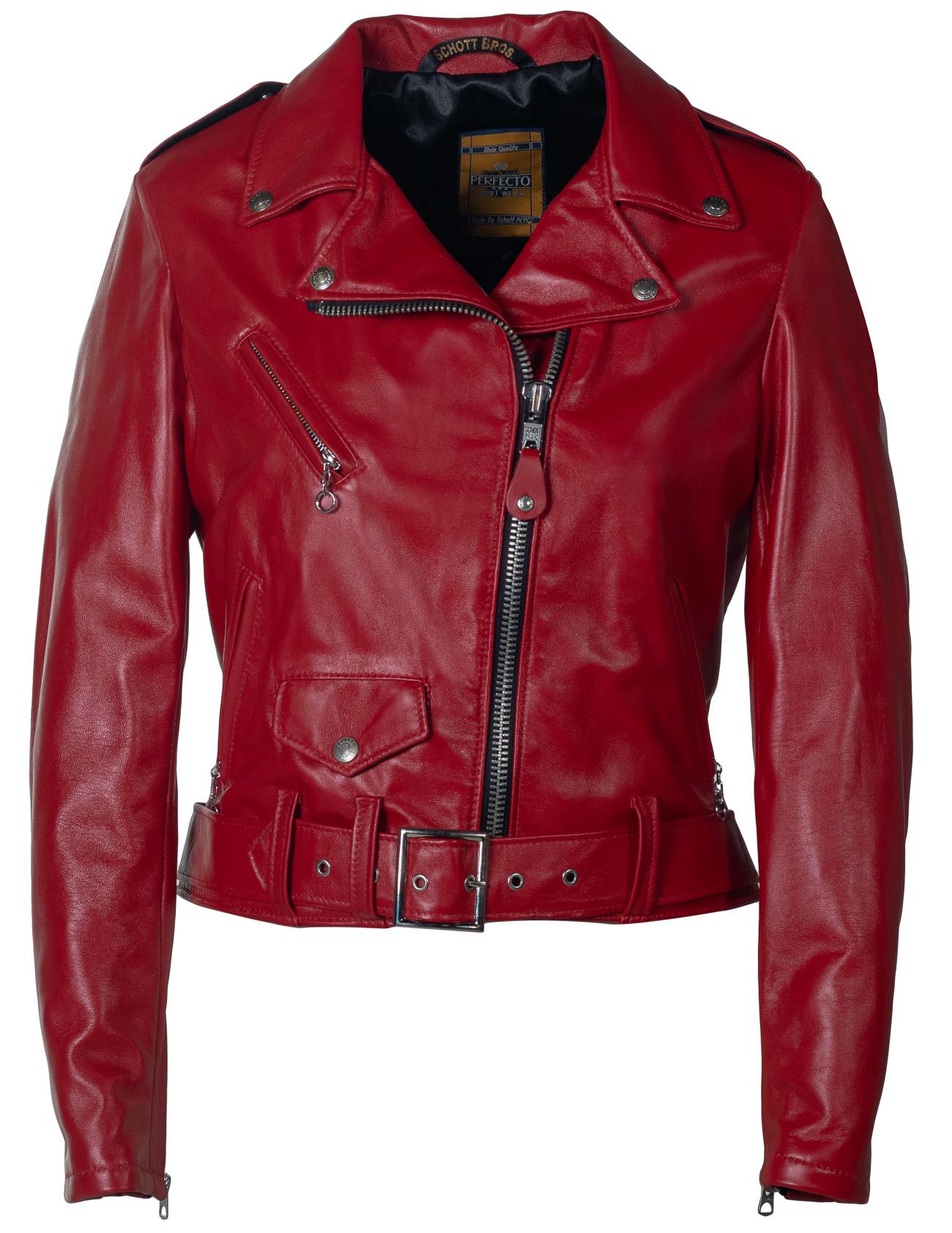 Schott N.Y.C. 210W Women's Cropped Perfecto® in Lambskin Leather Jacket