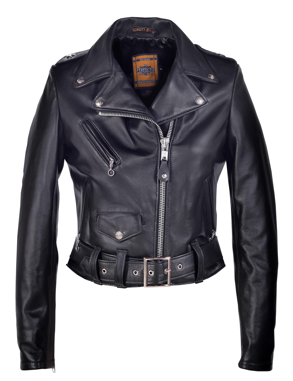 b57275622 Schott N.Y.C. 218W Women's Cropped Perfecto® in Lambskin Leather Jacket -  Black Size XS