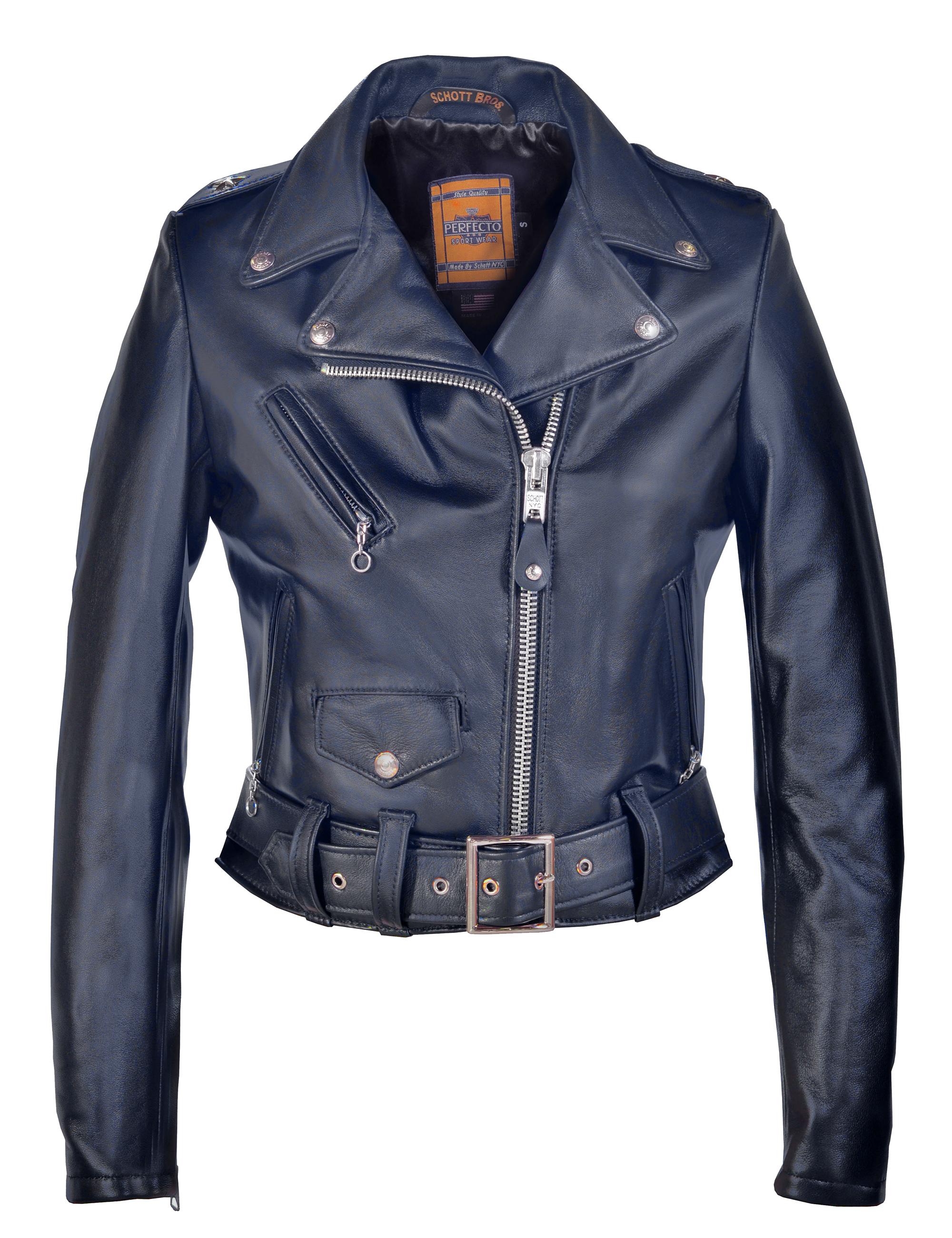 Schott N.Y.C. 218W Women's Cropped Perfecto® in Lambskin Leather Jacket