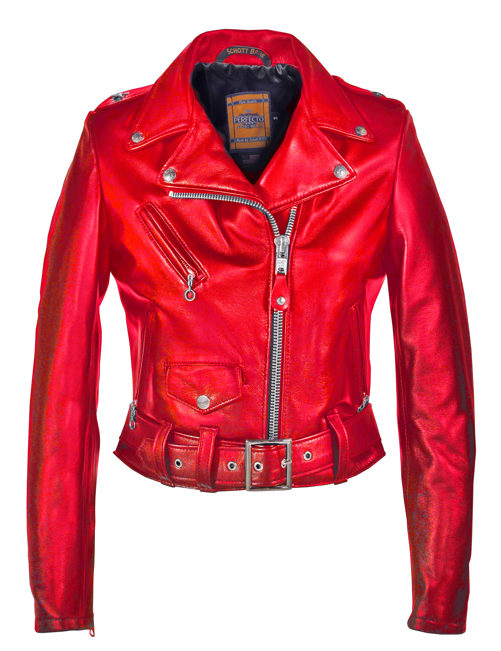 Schott N.Y.C. 218W Women's Cropped Perfecto® in Lambskin Leather Jacket