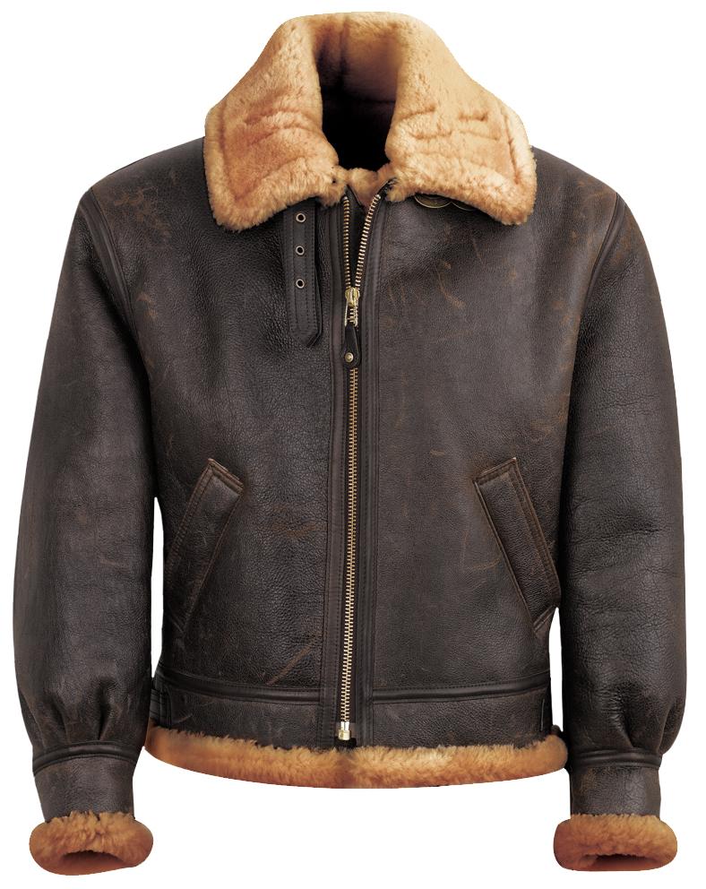 Schott N.Y.C. 257S Classic B-3 Sheepskin Leather Bomber Jacket