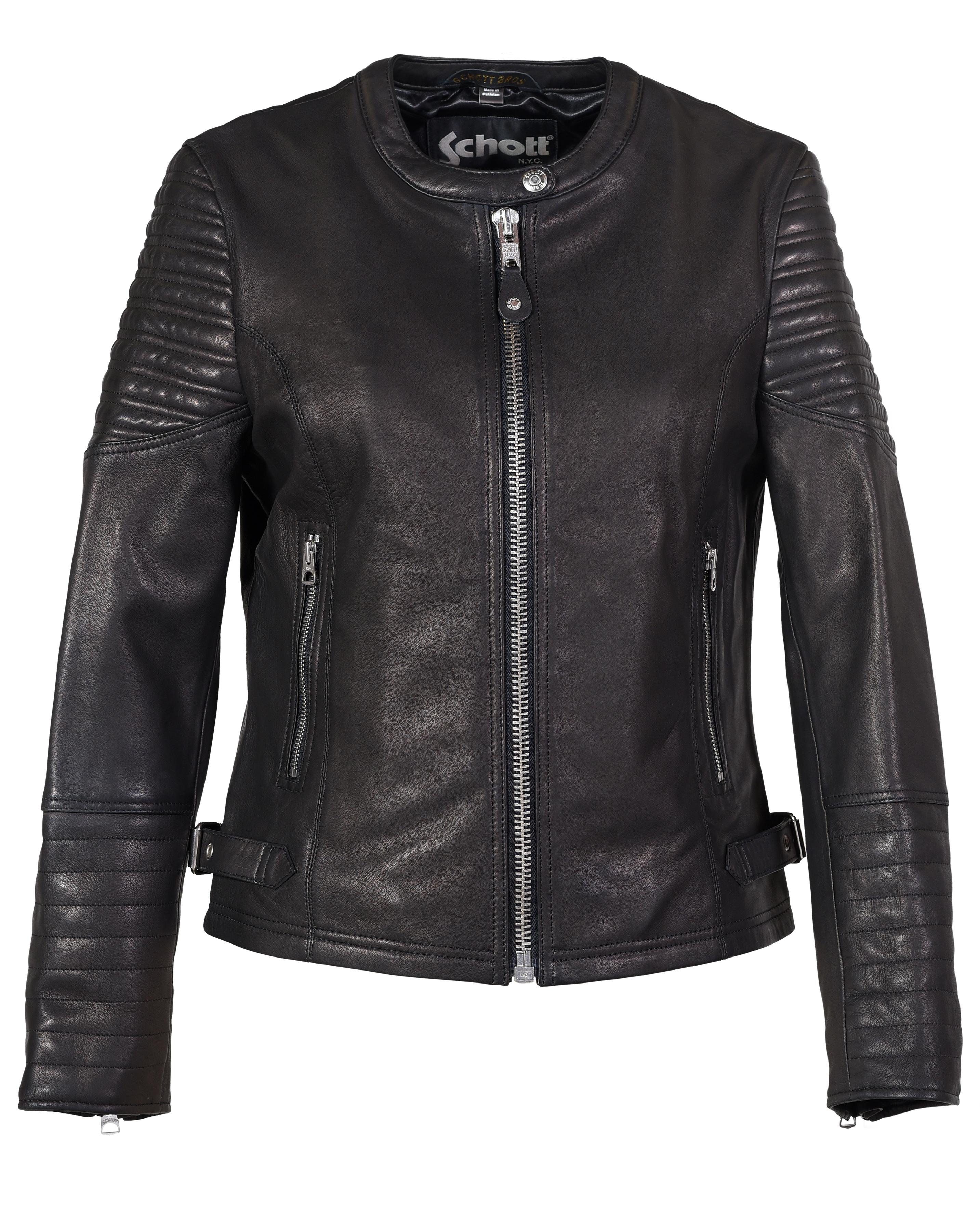 Schott N.Y.C. 2602W Womens Lambskin Cafe Jacket
