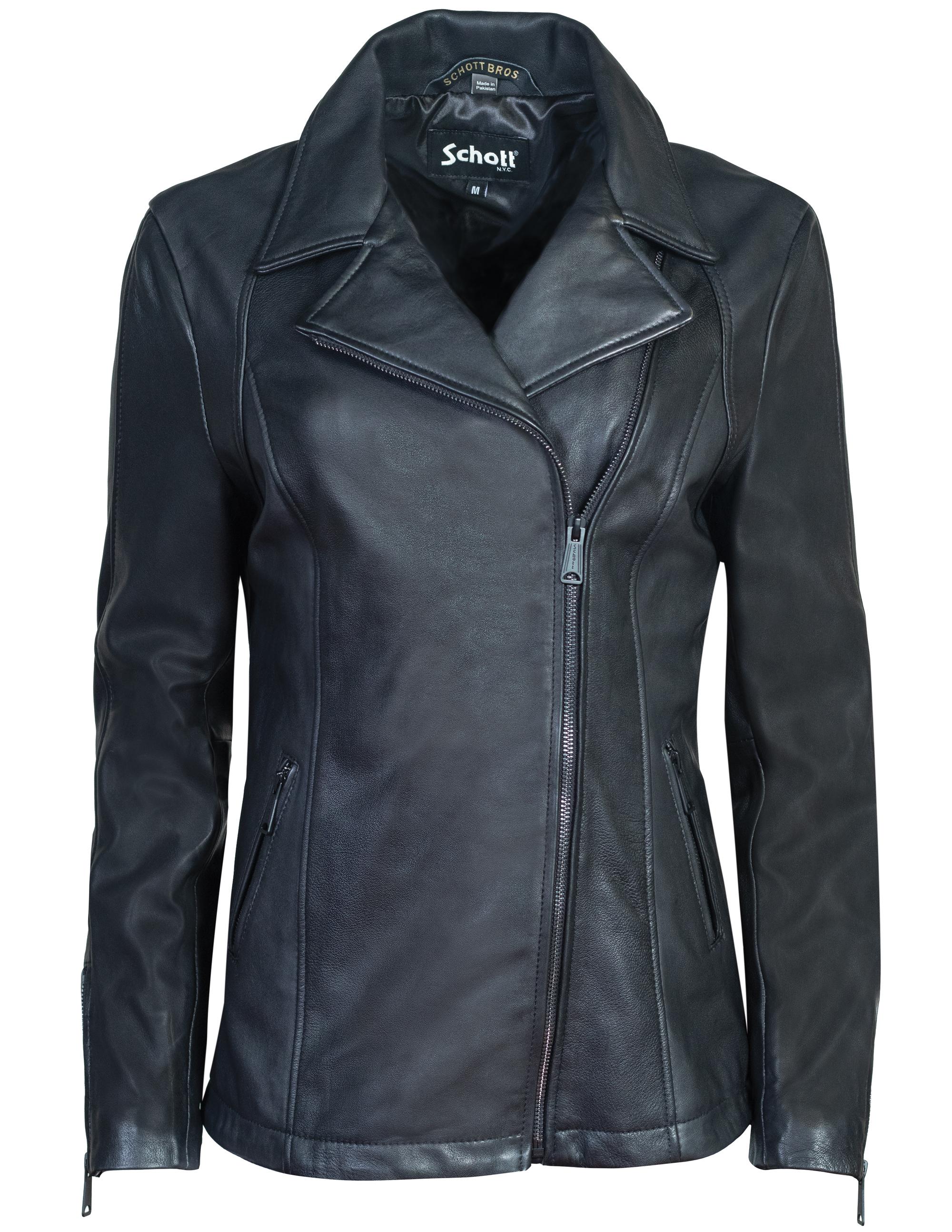 Schott N.Y.C. 2909W Long Lambskin Moto Jacket