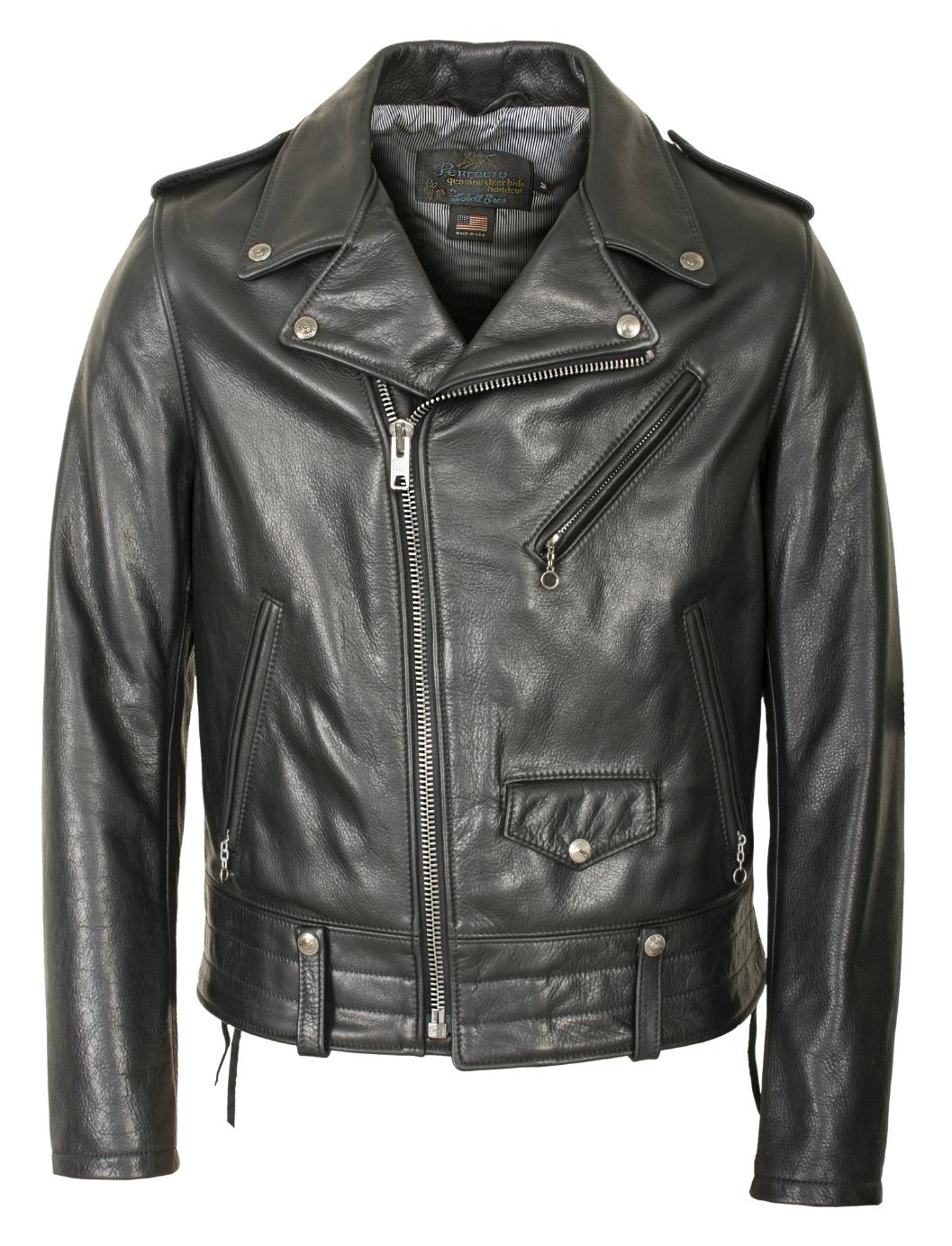 Schott N.Y.C. 525 Natural Pebble Cowhide Motorcycle Leather Jacket