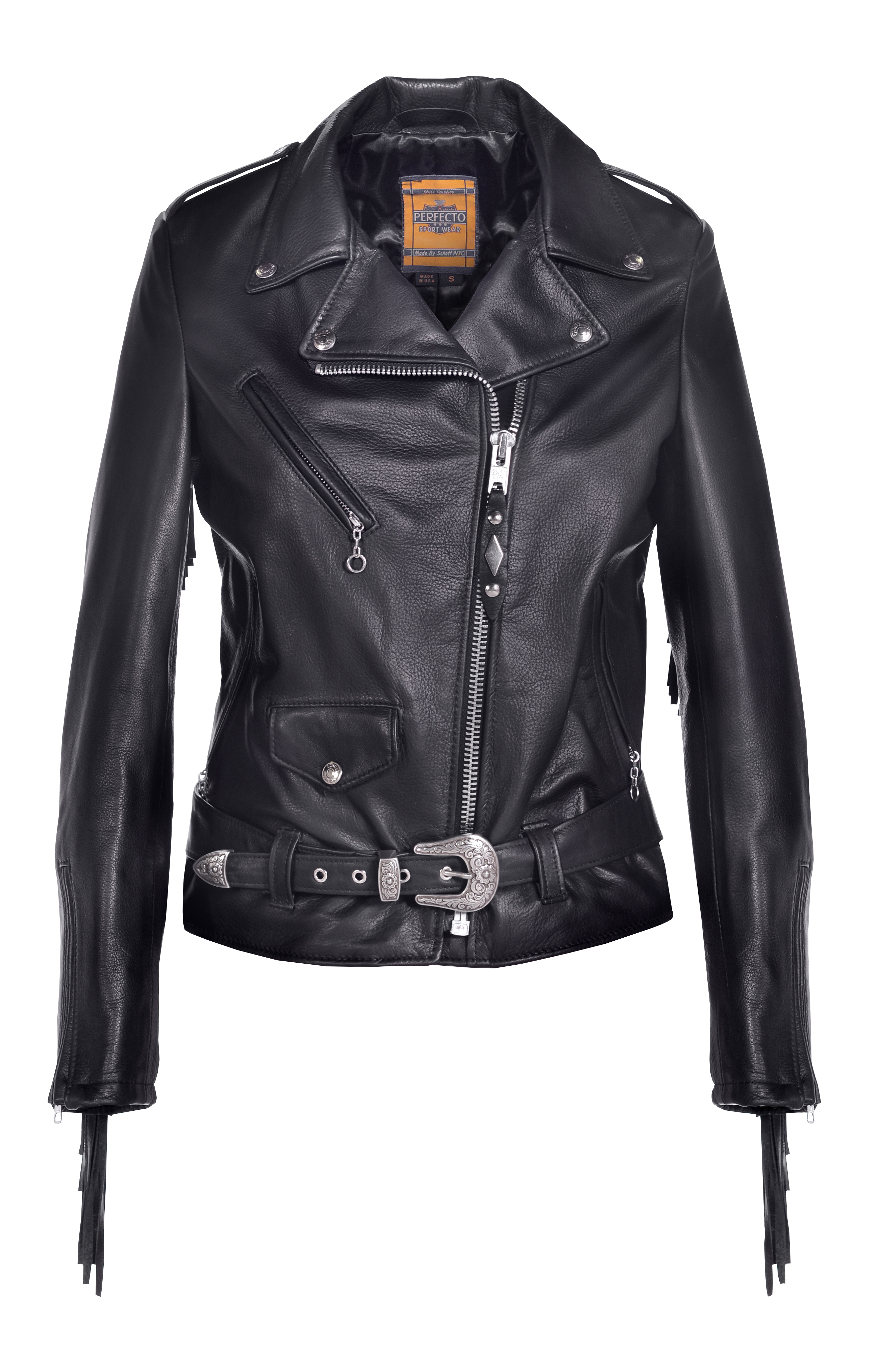 Schott N.Y.C. 526W Women's Fringed Motorcycle Jacket