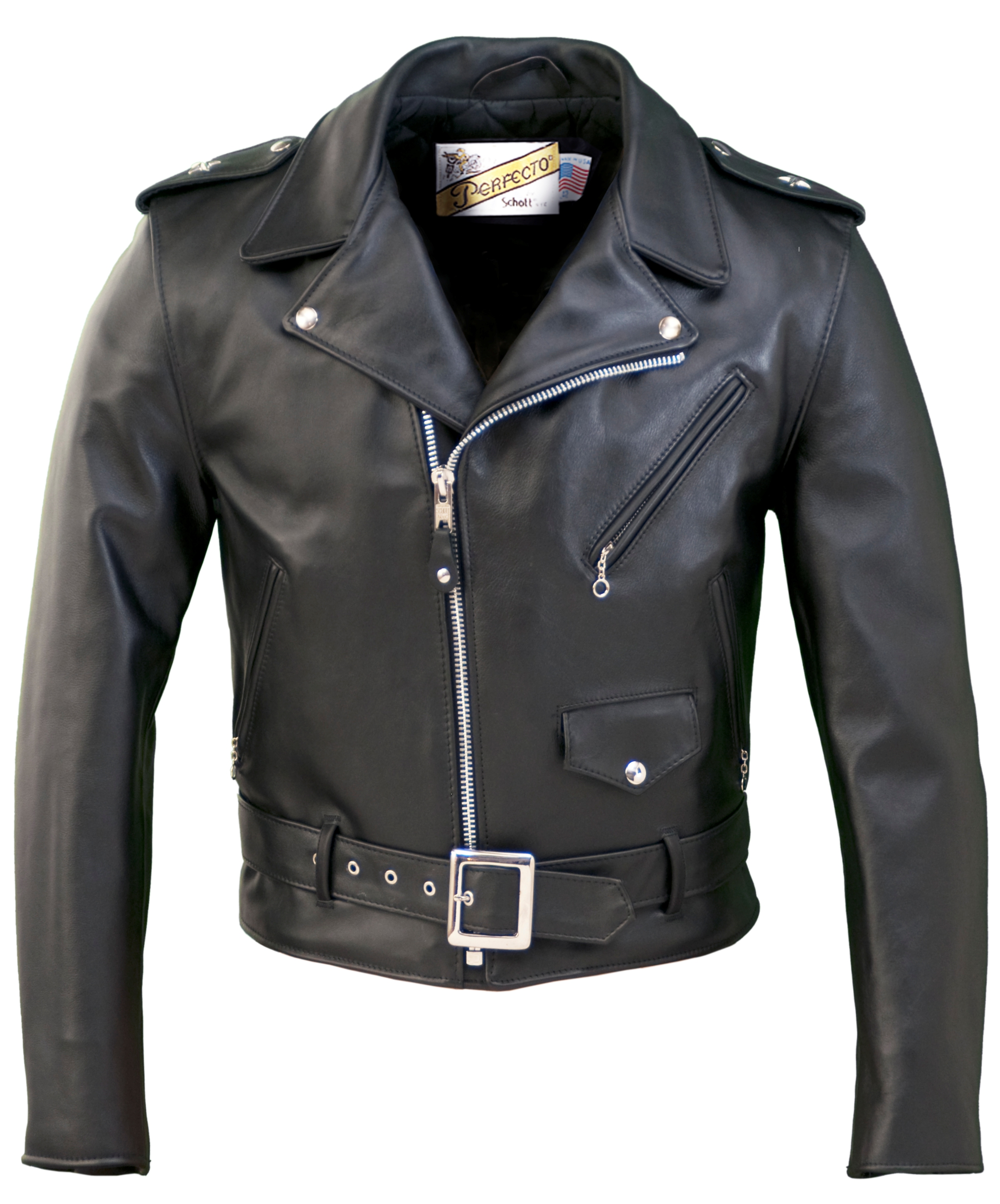 Schott N.Y.C. 613 One Star Perfecto® Leather Motorcycle Jacket