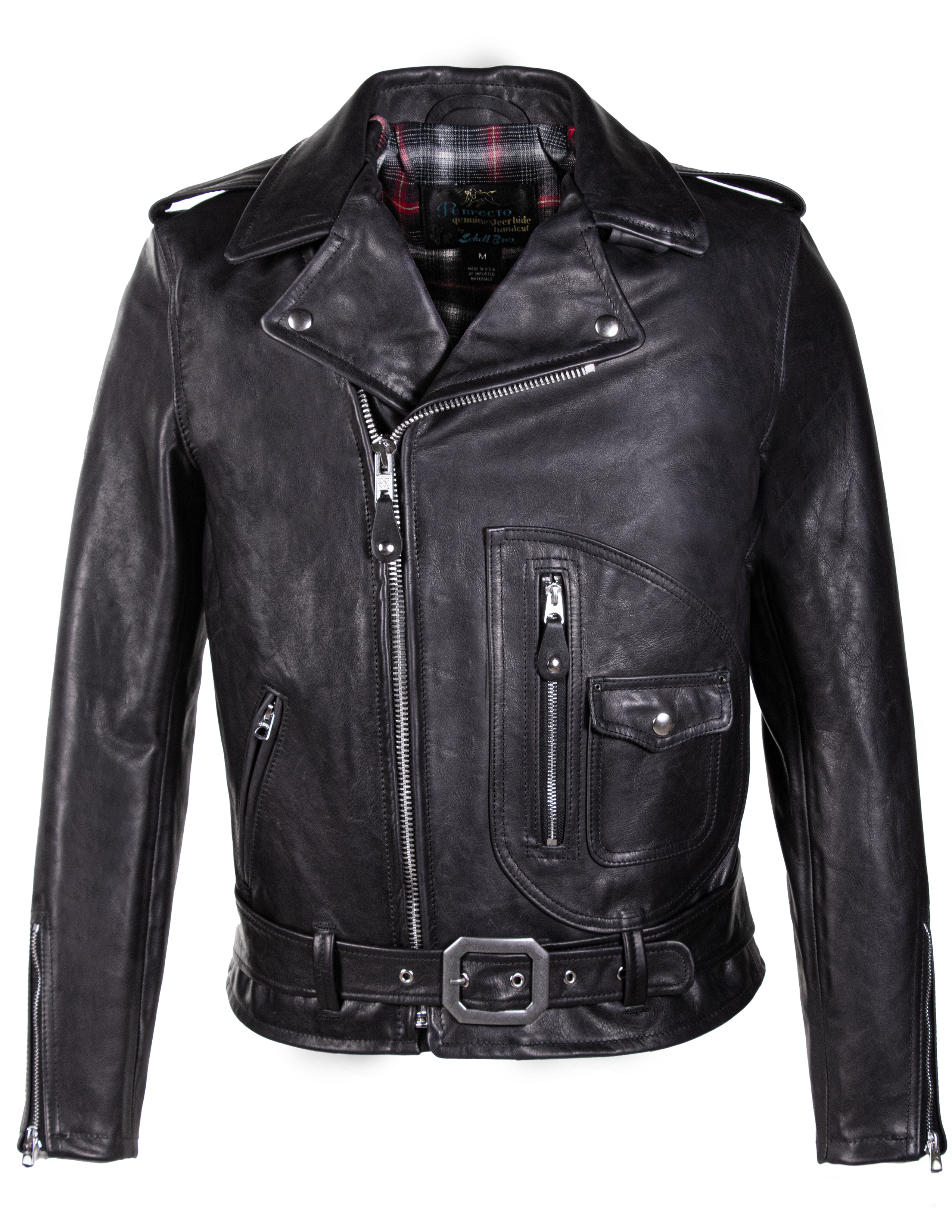 "Schott N.Y.C. 625 Waxy USA Steerhide ""50's"" D-Pocket Perfecto Jacket"