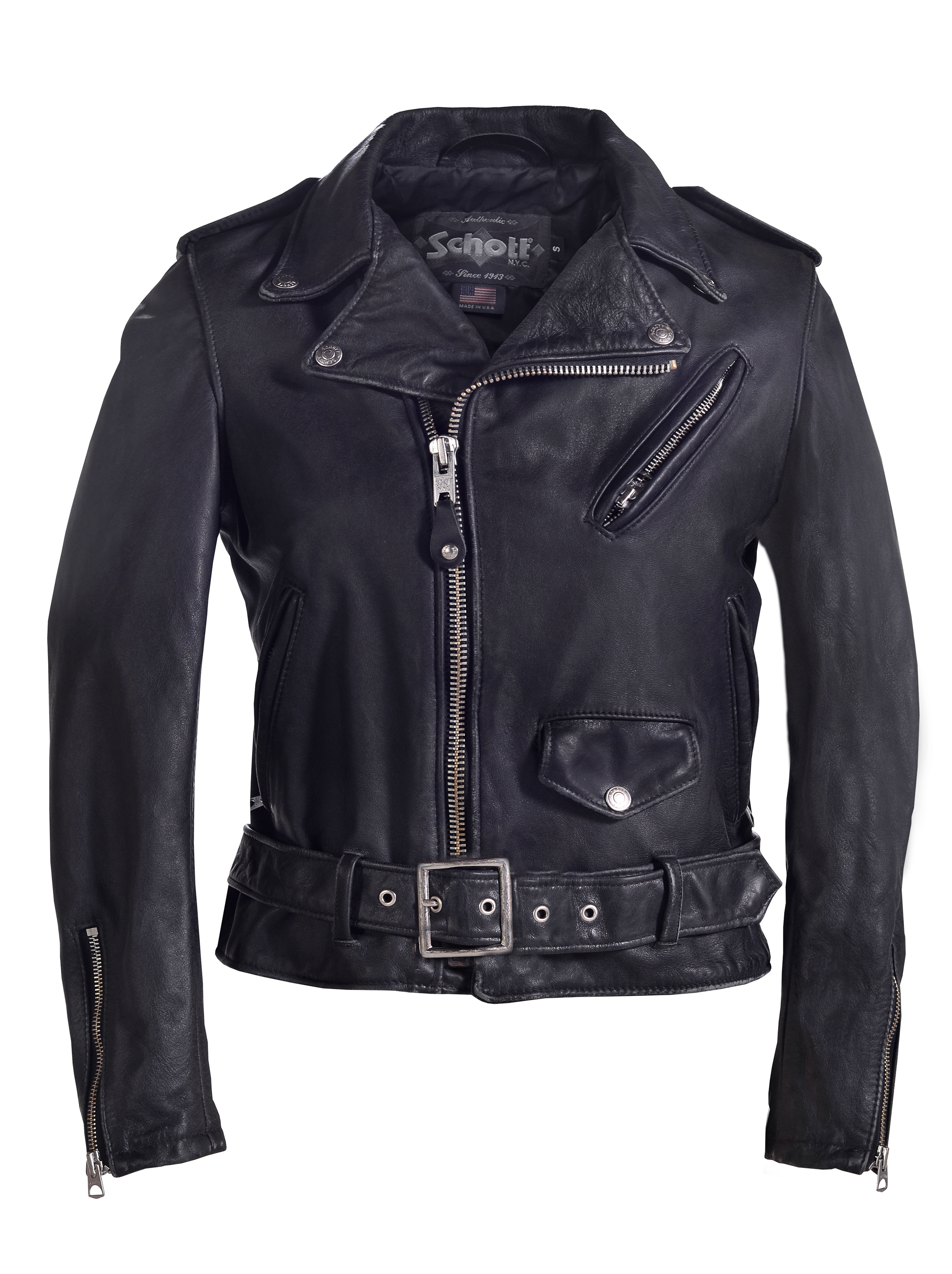 Schott N.Y.C. 626VNW Women's Vintaged Cowhide Motorcycle Jacket