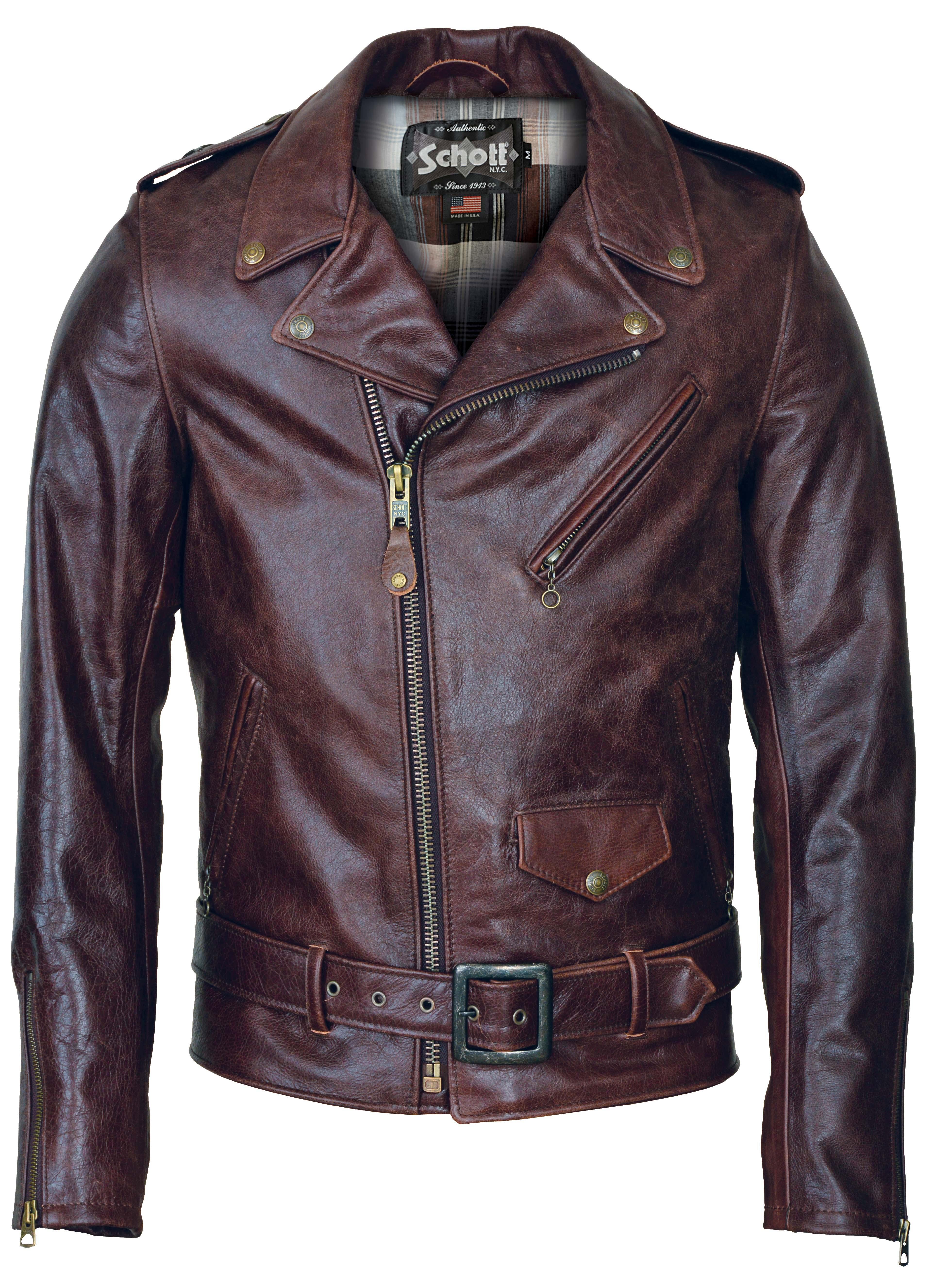 Schott N.Y.C. 626 Lightweight Fitted Cowhide Motorcycle Jacket